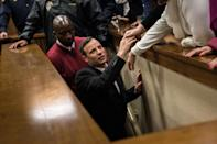 South African Paralympian athlete Oscar Pistorius reacts as he leaves the High Court in Pretoria, on July 6, 2016 after being sentenced to six years in jail for murdering his girlfriend Reeva Steenkamp three years ago. High Court judge Thokozile Masipa listed several mitigating factors for sentencing Pistorius to less than half the minimum 15-year term for murder, including the athlete's claim he believed he was shooting an intruder. Oscar Pistorius will not appeal against his six-year jail term. / AFP PHOTO / POOL / MARCO LONGARI (Photo by Xinhua/Sipa USA)