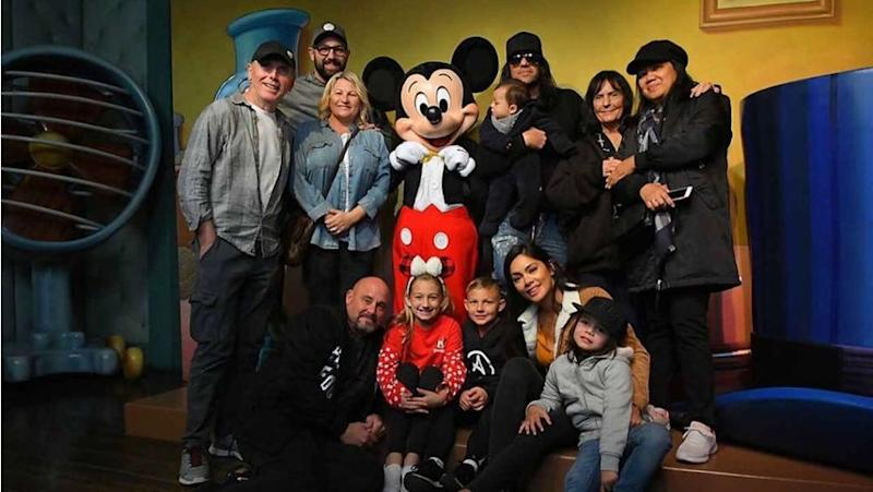Criss Angel and family at Disneyland | Criss Angel/ Instagram