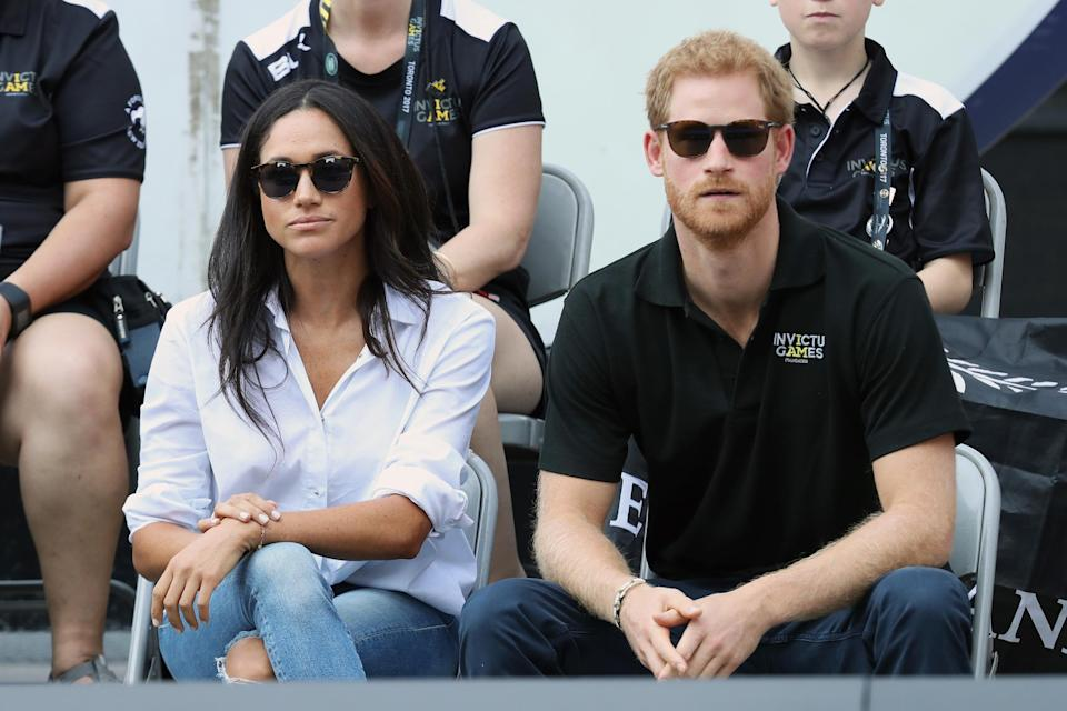 Harry and Meghan made their first public appearance at the Invictus Games Getty