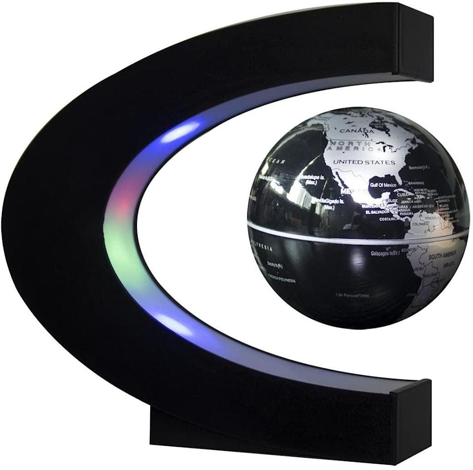 <p>A geography buff will love this <span>Senders Floating Globe with LED Lights Levitation Floating Globe</span> ($30).</p>
