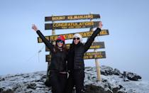 <p>My best friend, Terasa, and I, summiting. What a surreal and powerful moment—truly an unforgettable experience.</p>