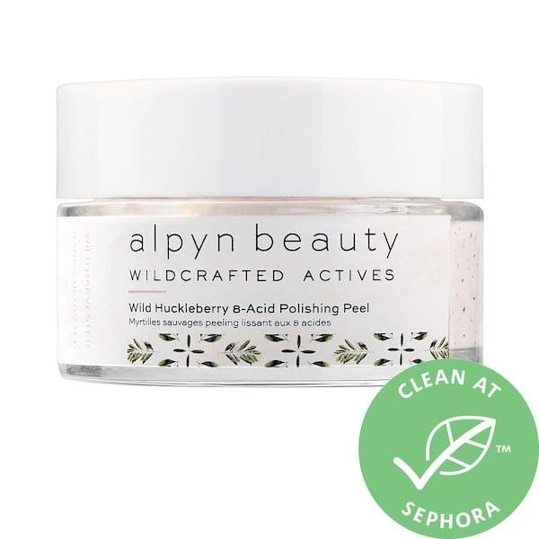 """<p>All eight acids in this <span>Alpyn Beauty Wild Huckleberry 8-Acid Polishing Peel Mask</span> ($56) are naturally derived, and there are <a href=""""https://www.popsugar.com/beauty/alpyn-beauty-wild-huckleberry-8-acid-polishing-peel-review-47916844"""" class=""""link rapid-noclick-resp"""" rel=""""nofollow noopener"""" target=""""_blank"""" data-ylk=""""slk:exfoliating blueberry seeds and brightening huckleberry"""">exfoliating blueberry seeds and brightening huckleberry</a>, too.</p>"""