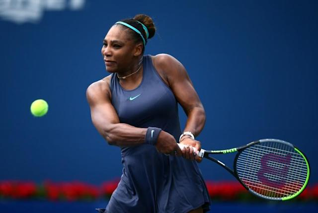 Serena Williams, seeking her 24th career Grand Slam singles title, will face five-time Grand Slam winner Maria Sharapova in a blockbluster first-round showdown Monday at the US Open (AFP Photo/Vaughn Ridley)