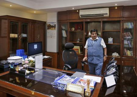 FILE PHOTO: Gadkari is pictured in his office in New Delhi