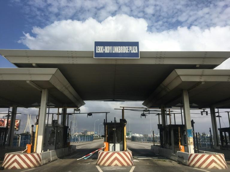 The toll gate was burnt after the deadly shooting, which shocked Nigerians