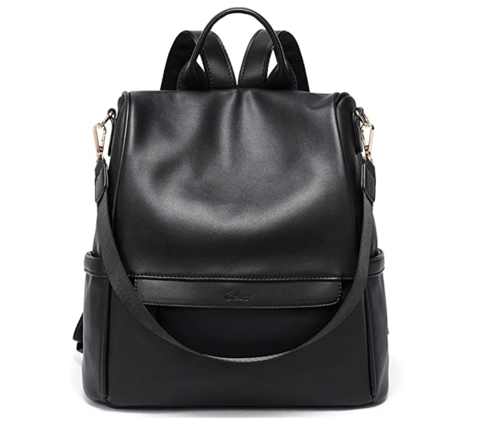 black leather CLUCI Women's Backpack from amazon