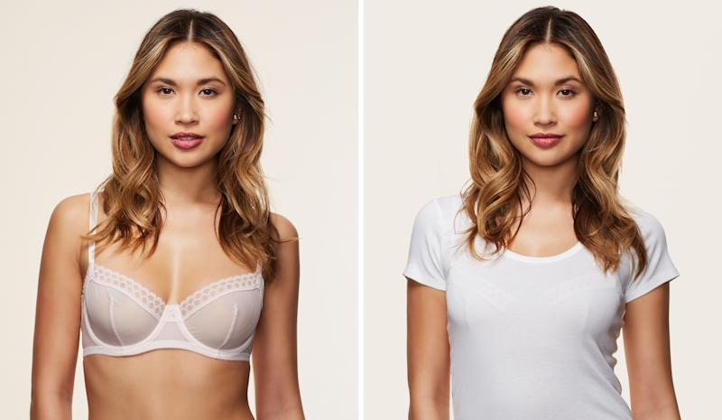 What 11 T Shirt Bras Actually Look Like Under A T Shirt