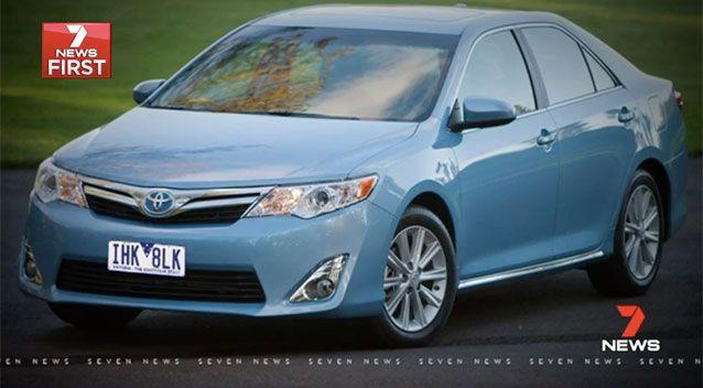 Police are now searching for the victim's blue Toyota Camry and the two men responsible for the attack. Source: 7 News