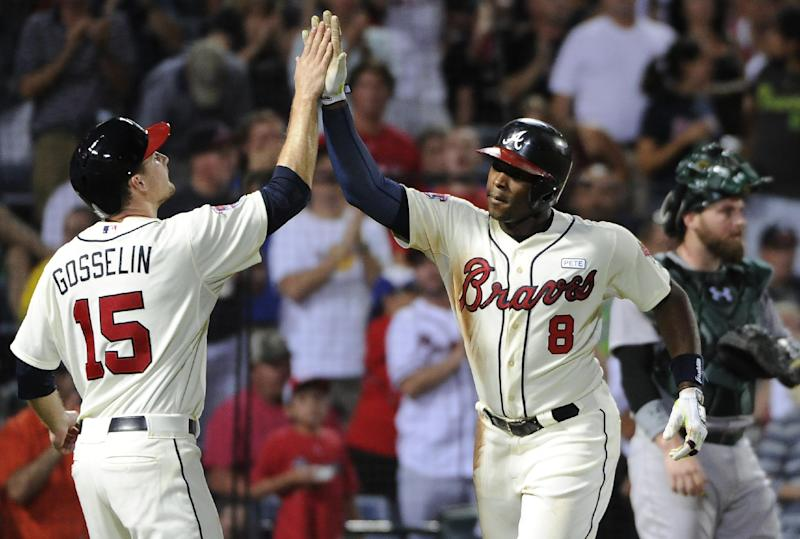 Upton's 2-run HR helps Braves top Lester, A's 4-3