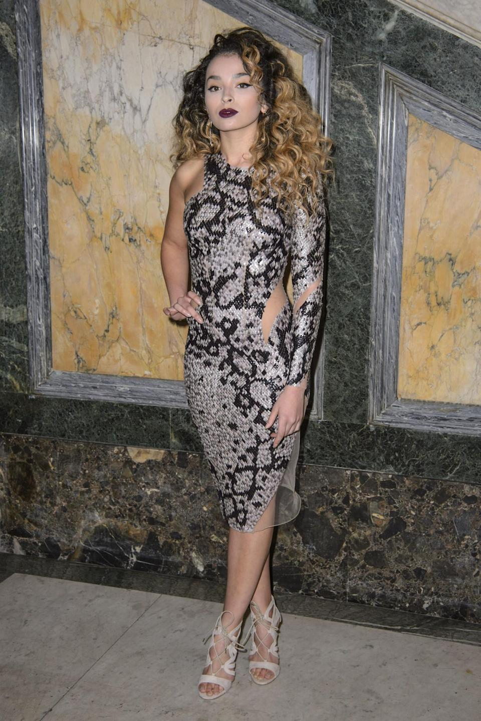 <p>Ella Eyre was stunning in snakeskin. <i>[Photo: PA]</i> </p>