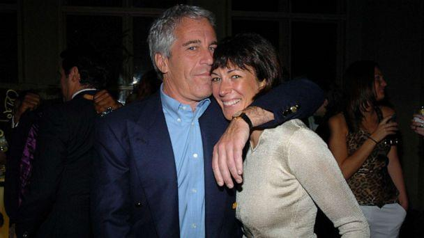 PHOTO: Jeffrey Epstein and Ghislaine Maxwell attend de Grisogono Sponsors The 2005 Wall Street Concert Series Benefitting Wall Street Rising, with a Performance by Rod Stewart at Cipriani Wall Street on March 15, 2005 in New York. (Patrick McMullan via Getty Image, FILE)