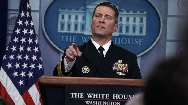 PHOTO: Physician to President Donald Trump Dr. Ronny Jackson speaks during the daily White House press briefing at the James Brady Press Briefing Room of the White House in Washington, Jan. 16, 2018. (Alex Wong/Getty Images, FILE)