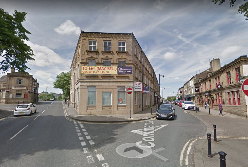 Police raided the empty Yorkshire Bank building in Batley, West Yorkshire, where a body was reportedly discovered in a wall (Picture: Google Maps)