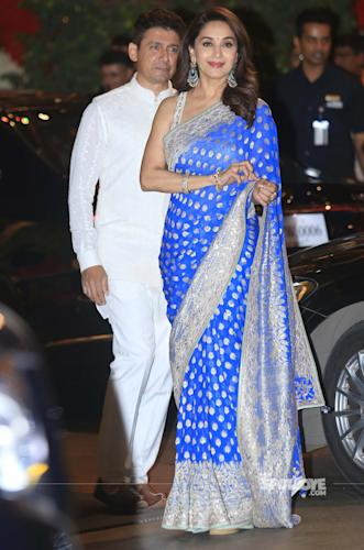 madhuri dixit at ambani ganesh celebration