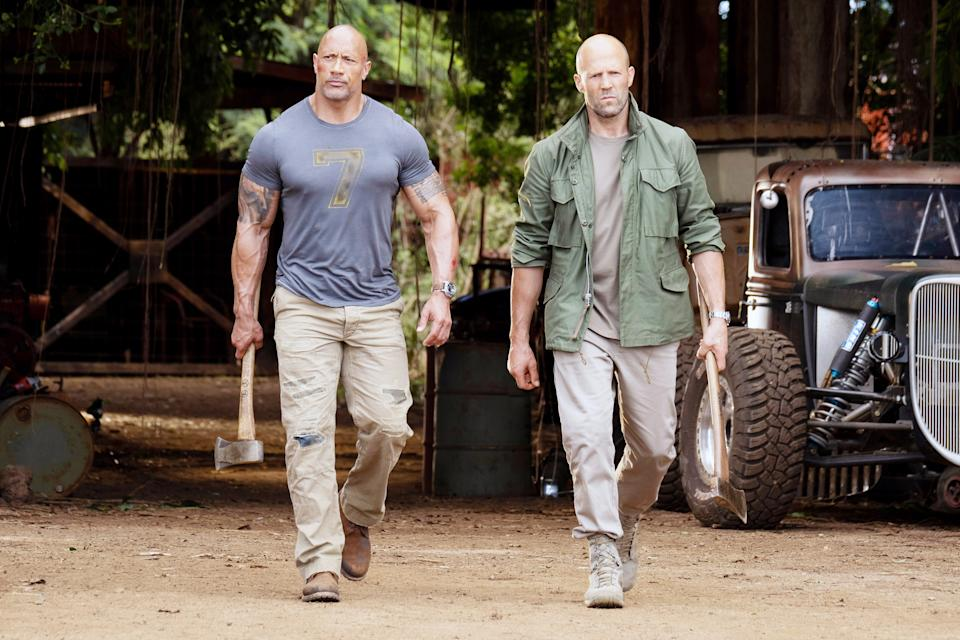 Hobbs (Johnson) and Shaw (Jason Statham) in 'Fast & Furious Presents: Hobbs & Shaw' (Photo: Universal/Courtesy Everett Collection)