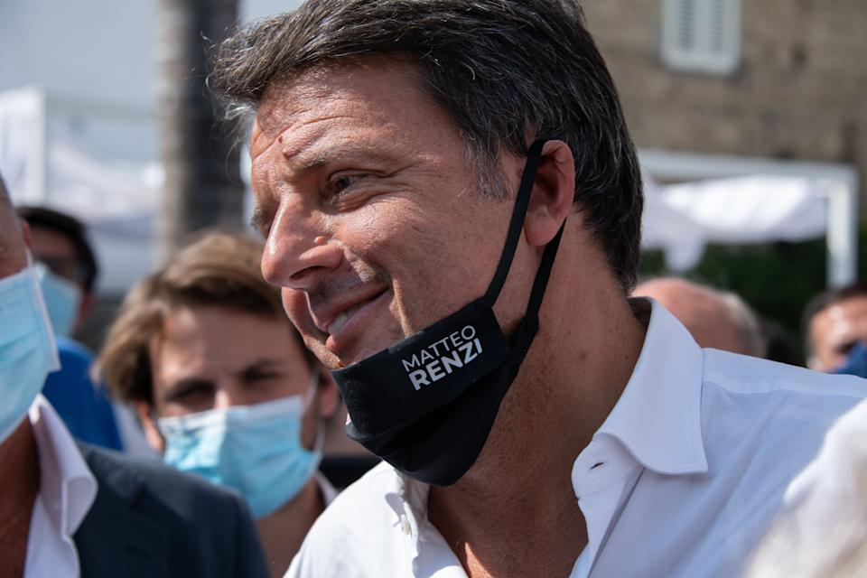 """AVERSA, CASERTA, ITALY - 2020/09/17: The leader of """"Italia Viva"""" Matteo Renzi arrives in Aversa to support the candidates of his party in the next Campania's elections. (Photo by Gennaro Buco/Pacific Press/LightRocket via Getty Images) (Photo: Pacific Press via Getty Images)"""