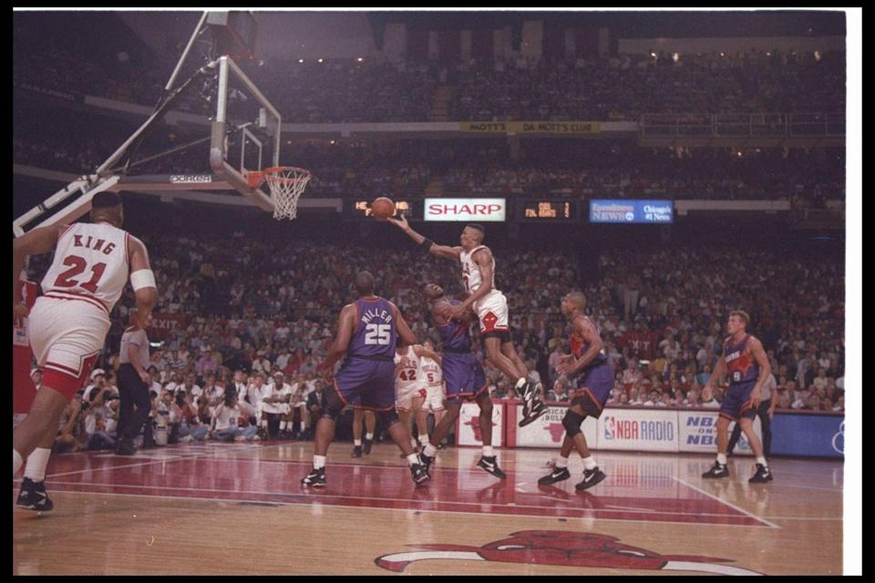 <p>Well, actually Michael Jordan. The Chicago Bulls, led by the shooting guard, defeated the Phoenix Suns in the 1993 NBA Finals. Talk about the ultimate Father's Day present! </p>