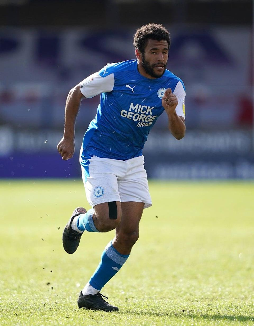 Peterborough's Nathan Thompson reported an allegation of racist abuse (Zac Goodwin/PA) (PA Wire)