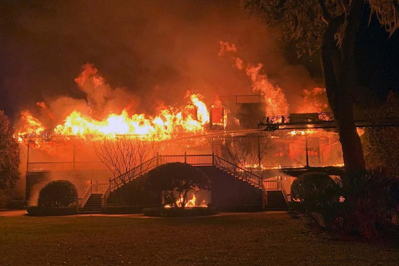 The home of Davis Love III burnt down in the early hours of Friday morning: AP