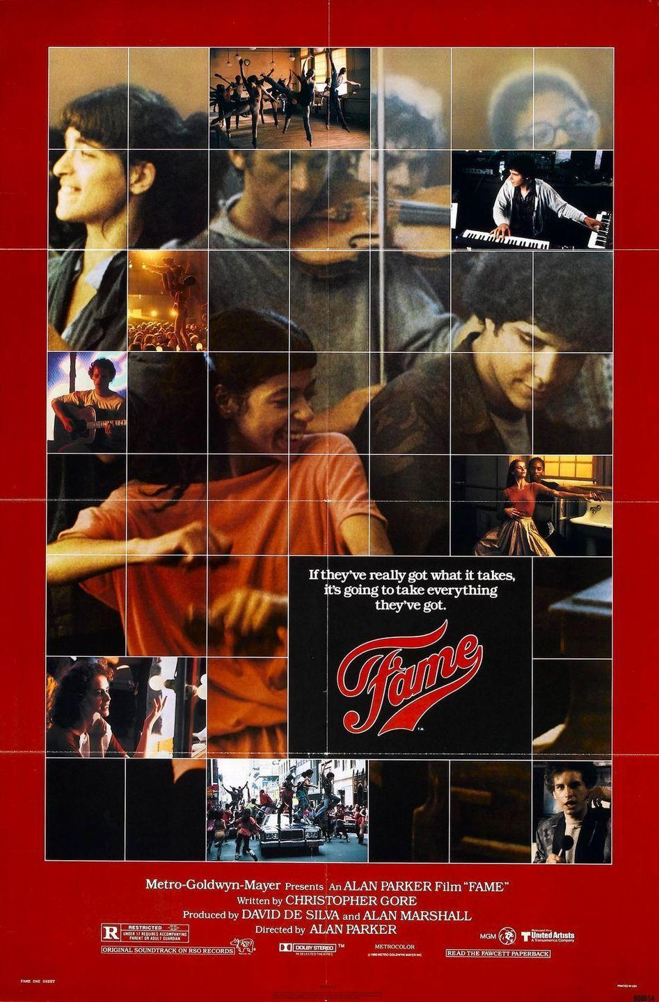 """<p>Some musicals are all about the glitz and glamour. This one explores the dark side of the entertainment industry as experienced by a group of students at a performing arts high school in New York City. Not to mention Irene Cara's <a href=""""https://www.amazon.com/Fame-Irene-Cara/dp/B00008OP1Z?tag=syn-yahoo-20&ascsubtag=%5Bartid%7C10072.g.27734413%5Bsrc%7Cyahoo-us"""" rel=""""nofollow noopener"""" target=""""_blank"""" data-ylk=""""slk:title track"""" class=""""link rapid-noclick-resp"""">title track</a> is still an irresistible toe-tapper decades after its release.</p><p><a class=""""link rapid-noclick-resp"""" href=""""https://www.amazon.com/Fame-Irene-Cara/dp/B0091WF2GK/ref=sr_1_2?tag=syn-yahoo-20&ascsubtag=%5Bartid%7C10072.g.27734413%5Bsrc%7Cyahoo-us"""" rel=""""nofollow noopener"""" target=""""_blank"""" data-ylk=""""slk:WATCH NOW"""">WATCH NOW</a></p>"""
