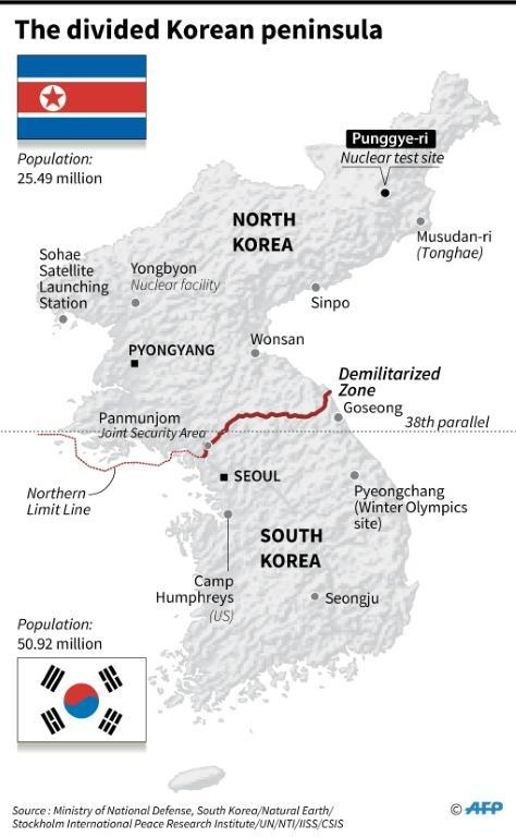 Map of the Korean peninsula showing the nuclear test site that North Korea has pledged to close sometime this month