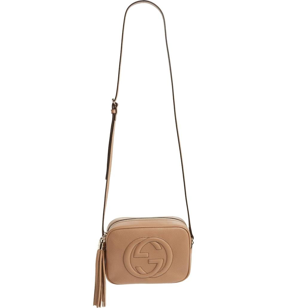 <p>Get this <span>Gucci Soho Disco Leather Bag</span> ($1,190) for a night out.</p>
