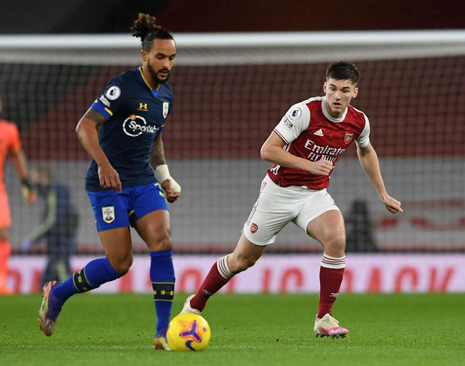 <p>Walcott is closed down by Tierney Silva</p> (Getty)