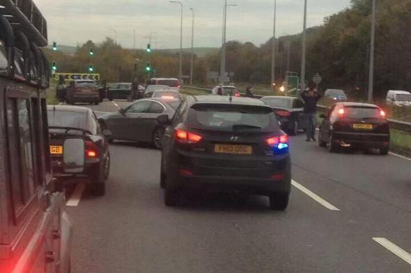 A27 closed after police fire on suspect during arrest