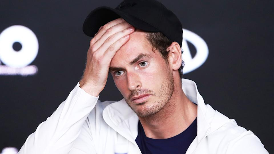 Andy Murray (pictured) left devastated at a press conference at the Australian Open.