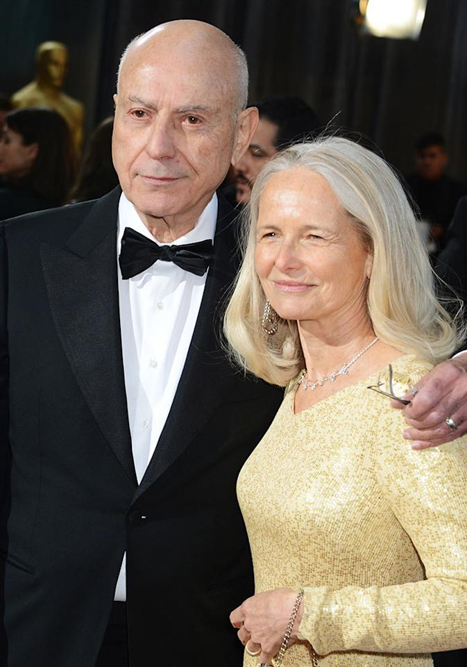 Alan Arkin and Suzanne Newlander Arkin arrive at the Oscars in Hollywood, California, on February 24, 2013.