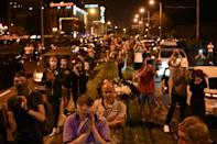 Thousands took to the streets of the capital Minsk Monday night, saying long-ruling strongman Alexander Lukashenko had stolen the election