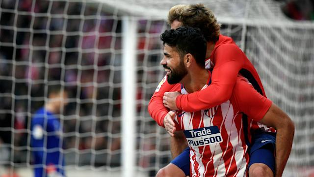 Diego Costa Antoine Griezmann Atletico Madrid Athletic Bilbao LaLiga