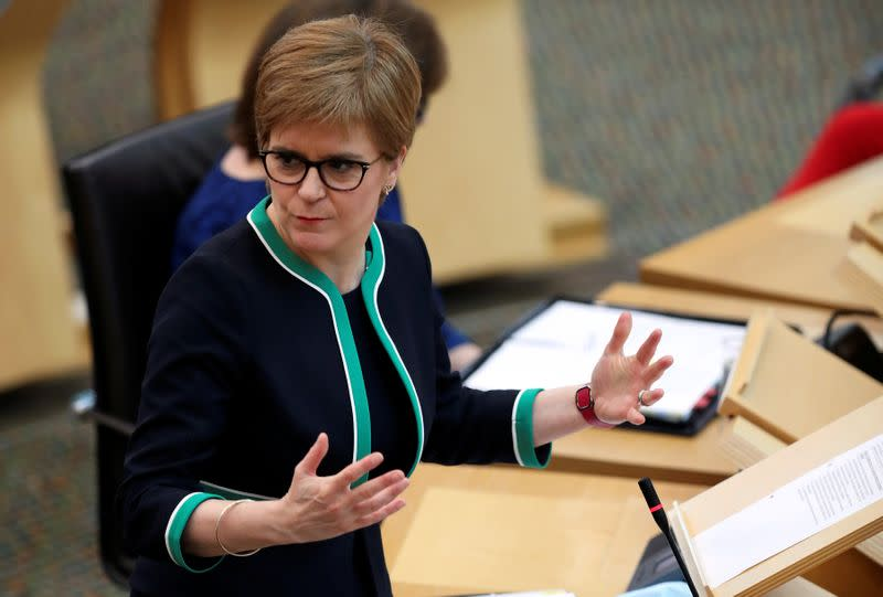 Scotland's Sturgeon says tougher COVID-19 restrictions on the way