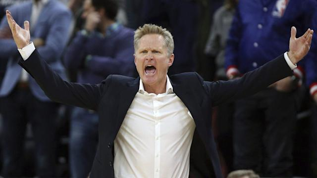 Tell the Warriors what my junior high school (and high school) coaches told me: If you don't want the referees to decide a game late, play better earlier so it's not in their hands. The Warriors didn't (they had a wretched third quarter for example), and — right or wrong — they were livid after