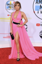 <p>The US superstar looked sensational in a Barbie-inspired look by Georges Chakra Couture at the American Music Awards on 9 October, proving she can still rock a plunge neckline 18 years on from <i>that</i> green Versace dress. <i>[Photo: Getty]</i> </p>