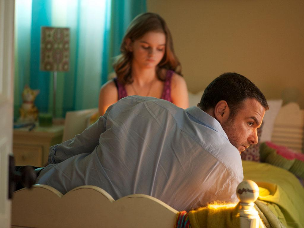 "Liev Schreiber as Ray Donovan and Kerris Dorsey as Bridget in the series premiere of Showtime's ""Ray Donovan."""