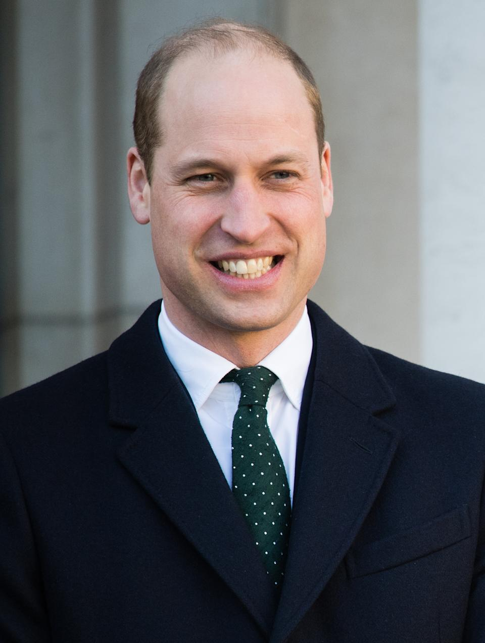 DUBLIN, IRELAND - MARCH 03:  Prince William, Duke of Cambridge meets Ireland's Taoiseach Leo Varadkar and his partner Matthew Barrett on March 03, 2020 in Dublin, Ireland. The Duke and Duchess of Cambridge are undertaking an official visit to Ireland between Tuesday 3rd March and Thursday 5th March, at the request of the Foreign and Commonwealth Office. (Photo by Samir Hussein/WireImage)