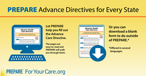 Let PREPARE help you fill out the advance care directive