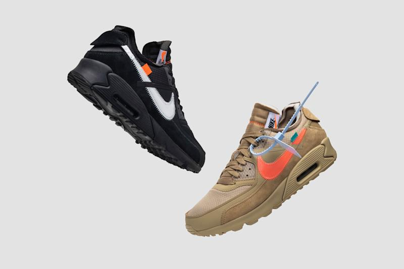 dd3202bf156 NIKE Off-White x Air Max 90  Black  and NIKE Off-White