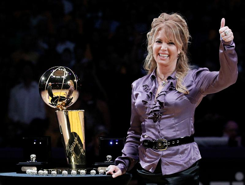 Let's just say Lakers owner Jeanie Buss has presided over a memorable season. (AP)