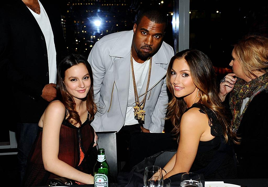 """Rapper Kanye West was a surprise guest at Leighton's party. Do you think the girls were excited to see the Twitter king in person? Jamie McCarthy/<a href=""""http://www.wireimage.com"""" target=""""new"""">WireImage.com</a> - February 1, 2011"""