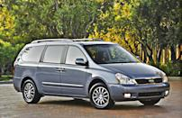 "<b>Worst Minivan - <a href=""http://autos.yahoo.com/kia/sedona/"" data-ylk=""slk:2014 Kia Sedona"" class=""link rapid-noclick-resp"">2014 Kia Sedona</a></b>: The Kia Sedona went away for 2013 but will be resurrected for 2014. Unfortunately for minivan buyers, it didn't really change in the process and is very much the same van that was introduced for 2006. Back then and in the subsequent model years, the Sedona was a smart alternative to the class-leading Honda Odyssey and Toyota Sienna, while a clear step above Chrysler's vans. The Sedona offered loads of features for the money, a generous warranty, competitive interior space and commendable driving manners.<br><br>Those same virtues remain, but the minivan segment has moved forward with fresher designs, added features, more refinement and better fuel economy. Today's Odyssey and Sienna, plus the Nissan Quest and the heavily improved Chrysler Town & Country and Dodge Caravan, are ultimately stronger choices."
