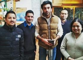 Brahmastra: Ranbir Kapoor is back to work post-injury, poses with fans in Manali