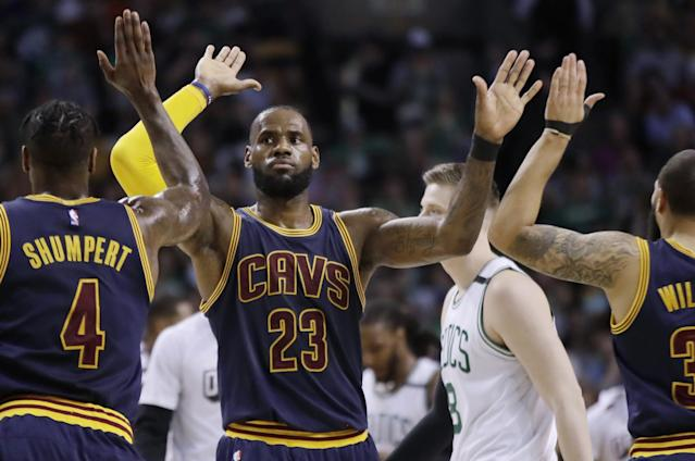 LeBron James and Co. coasted to another easy win Friday night. (AP)