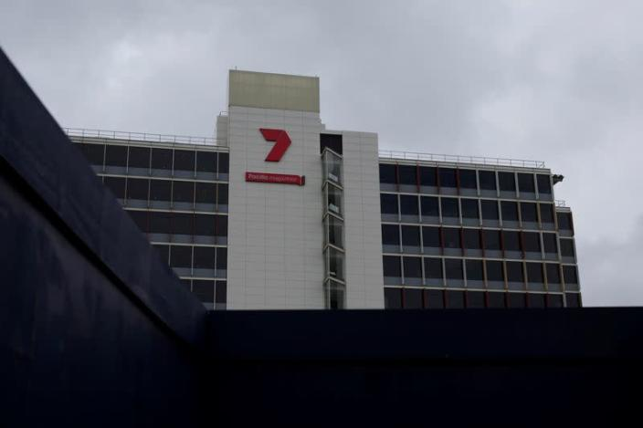 FILE PHOTO: The headquarters of media broadcaster/publisher Seven West Media in Sydney