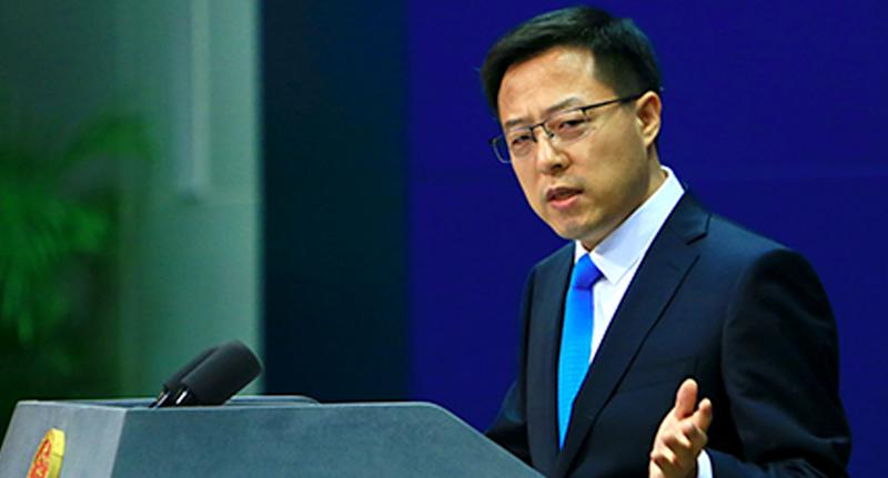 "Zhao Lijian has criticised Australia over its ""erroneous"" behaviour. Source: FMPRC"