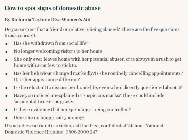 How to spot signs of domestic abuse