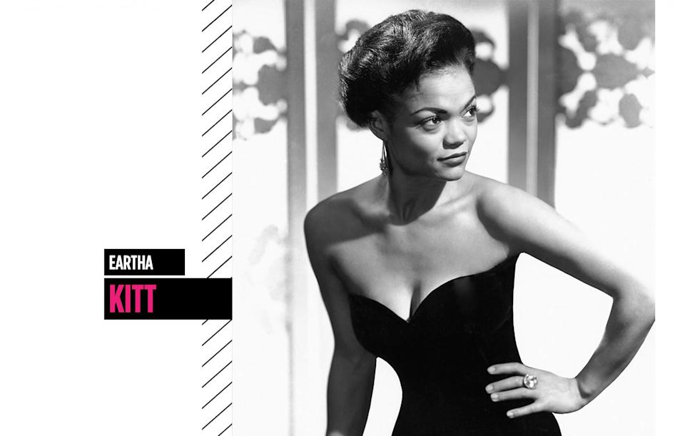 <p>Eartha Kitt's alluring eyes and gorgeous full lips were as striking as her unique singing style (or purr). (Photo: Getty Images) </p>