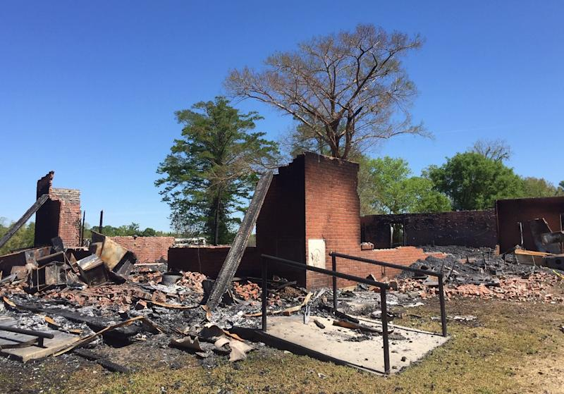 St. Mary Baptist Church in Port Barre was destroyed by fire on March 26. Investigators are looking for possible links to a April 2 fire at nearby Greater Union Baptist Church in Opelousas.
