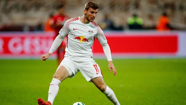 <p><strong>Club: RB Leipzig</strong></p> <p><strong>Value: £81.8m</strong></p> <br><p>Expected to lead the line for Germany at next summer's World Cup, Timo Werner already has seven goals in 10 international appearances and is just as prolific in the Bundesliga with Red Bull Leipzig, who signed him for just €10m from Stuttgart two seasons ago.</p>
